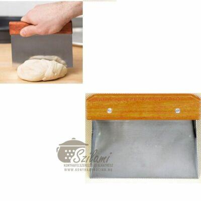 Cukrász spatula rozsdamentes fanyelű