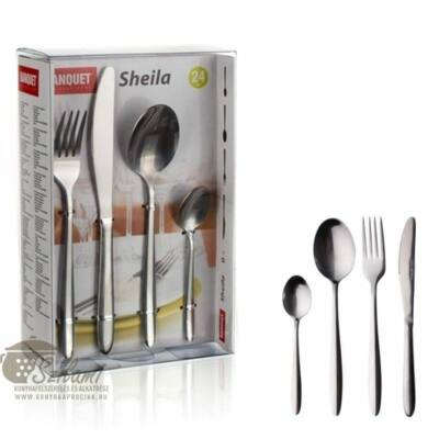 Evőeszköz garnitúra 24 részes rozsdamentes Banquet-Europe Sheila
