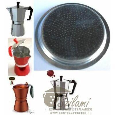 Felső szűrő 2 személyes Olasz-Kínai sokszögletű alumínium / Zanzibár / Pepita / Gat kávéfőzőhöz