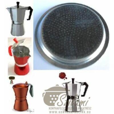 Felső szűrő 3 személyes Olasz-Kínai sokszögletű alumínium / Zanzibár / Pepita / Gat kávéfőzőhöz