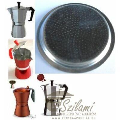Felső szűrő 6 személyes Olasz-Kínai sokszögletű alumínium / Zanzibár / Pepita / Gat kávéfőzőhöz