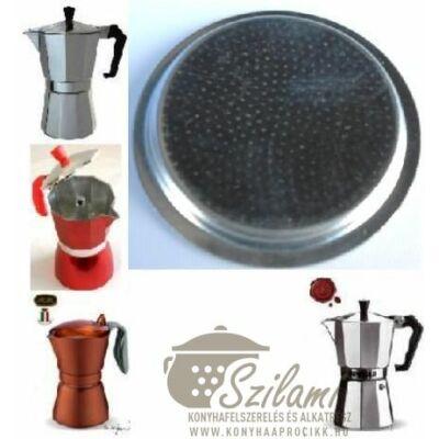 Felső szűrő 9 személyes Olasz-Kínai sokszögletű alumínium / Zanzibár / Pepita / Gat kávéfőzőhöz