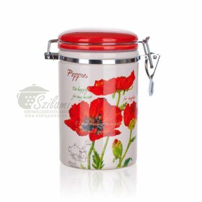 Fűszertartó patentzáras 0,75 liter kerámia Pipacs Banquet-Europe
