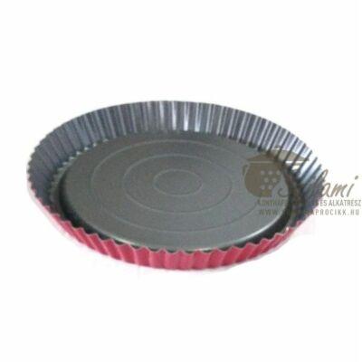 Gyümölcstorta sütőforma tapadásmentes 26 cm piros