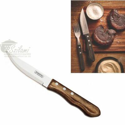Jumbó steak kés fanyelű 12 cm Tramontina Polywood