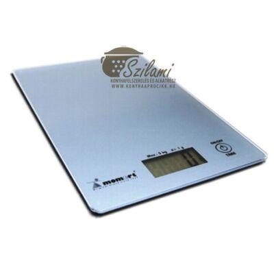 Konyhamérleg elektronikus üveglapos 5 kg Momert