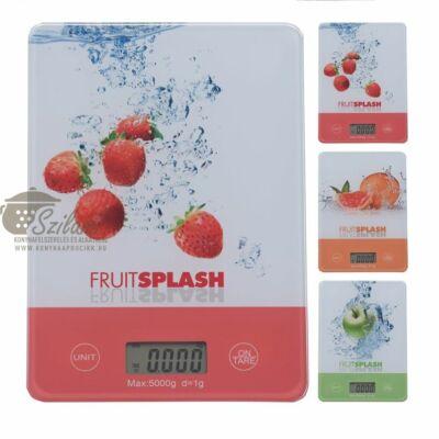 Konyhamérleg elektronikus gyümölcs mintás 5 kg