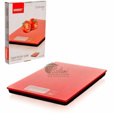 Konyhamérleg elektronikus piros 5 kg Banquet-Europe