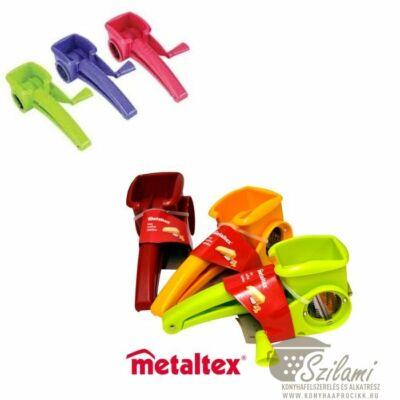 Sajtdaráló, 1 betétes műanyag kézi Metaltex