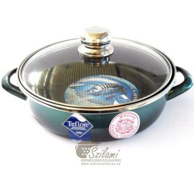 Sütőtál üvegfedővel füles teflonos 20 cm<br/> Platinum Ema-Lion bonyhád