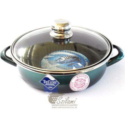 Sütőtál üvegfedővel füles teflonos 24 cm <br/> Platinum Ema-Lion bonyhád