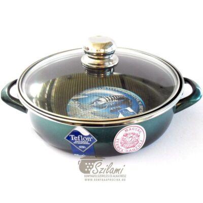 Sütőtál üvegfedővel füles teflonos 26 cm<br/> Platinum Ema-Lion bonyhád