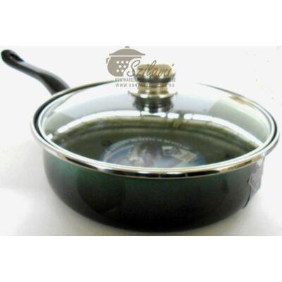 Sütőtál üvegfedővel nyeles teflonos 20 cm<br/> Platinum Ema-Lion bonyhád