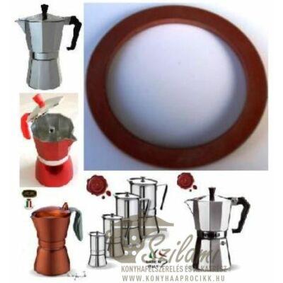 Szilikonos gumi 1 személyes Olasz-Kínai sokszögletű alumínium / Zanzibár / Pepita / Gat kávéfőzőhöz