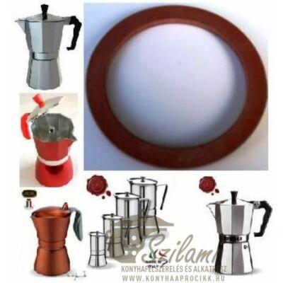 Szilikonos gumi 2 személyes Olasz-Kínai sokszögletű alumínium / Zanzibár / Pepita / Gat kávéfőzőhöz