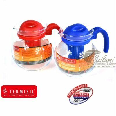 Teáskanna hőálló üveg szűrőbetéttel mikrózható 1,5 liter Termisil