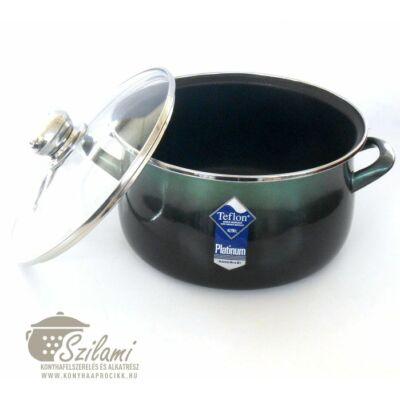 Teflon fazék üvegfedővel 24 cm<br/> (5,5 literes) Platinum<br/> Ema-Lion bonyhád