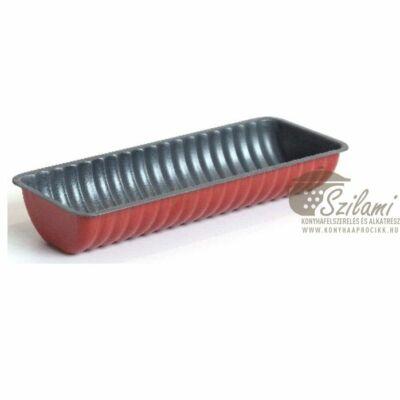 Őzgerinc sütőforma piros tapadásmentes széles