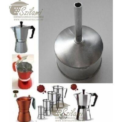 Tölcsér 12 személyes olasz / alumínium / sokszögletű kávéfőzőhöz