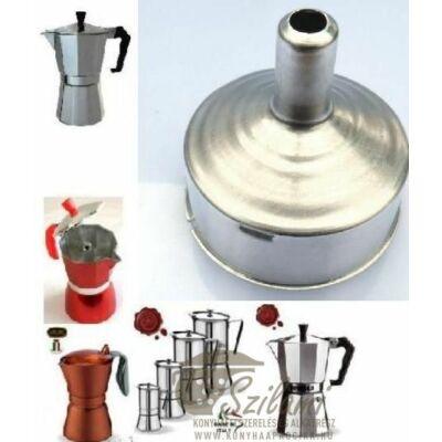 Tölcsér 3 személyes olasz / alumínium / sokszögletű kávéfőzőhöz