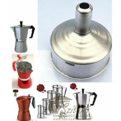 Tölcsér 6 személyes olasz / alumínium / sokszögletű kávéfőzőhöz