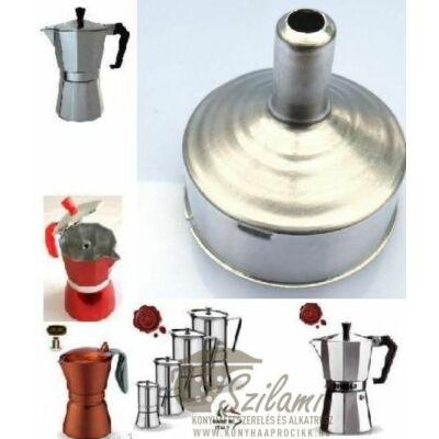 Tölcsér 9 személyes olasz / alumínium / sokszögletű kávéfőzőhöz