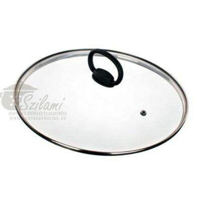 Üveg fedő körperemes <br/>20 cm Banquet