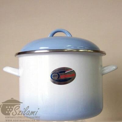 Zománcozott fazék fedővel 22 cm (5,5 literes)<br/> Kék árnyalatú Ema-Lion Bonyhád
