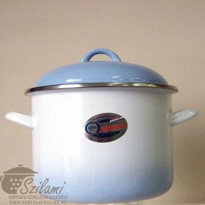 Zománcozott fazék fedővel 24 cm (7,5 literes)<br/> Kék árnyalatú Ema-Lion Bonyhád